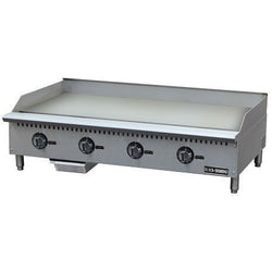 Commercial Kitchen Stainless Steel Thermostatic Gas Griddle 48