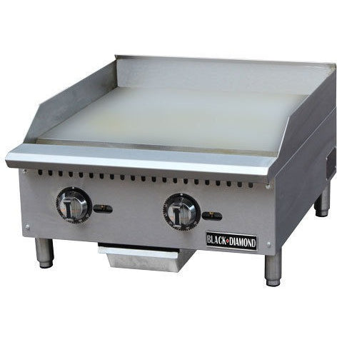 Commercial Kitchen Stainless Steel Thermostatic Gas Griddle 24