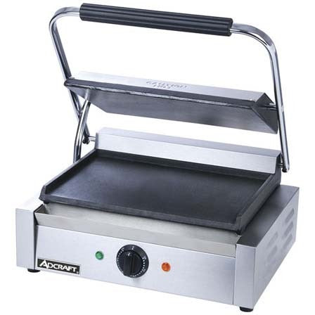 Commercial Kitchen Countertop Single Plus Flat Panini Sandwich Grill - Commercial Kitchen USA