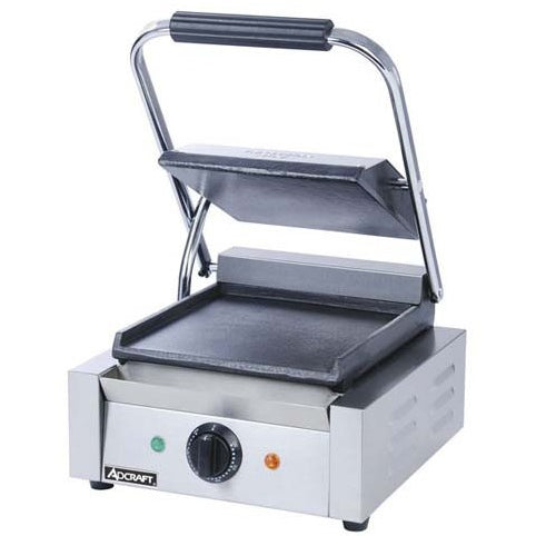 Commercial Kitchen Countertop Single Flat Panini Sandwich Grill - Commercial Kitchen USA