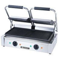 Commercial Kitchen Countertop Double Ribbed Panini Sandwich Grill - Commercial Kitchen USA