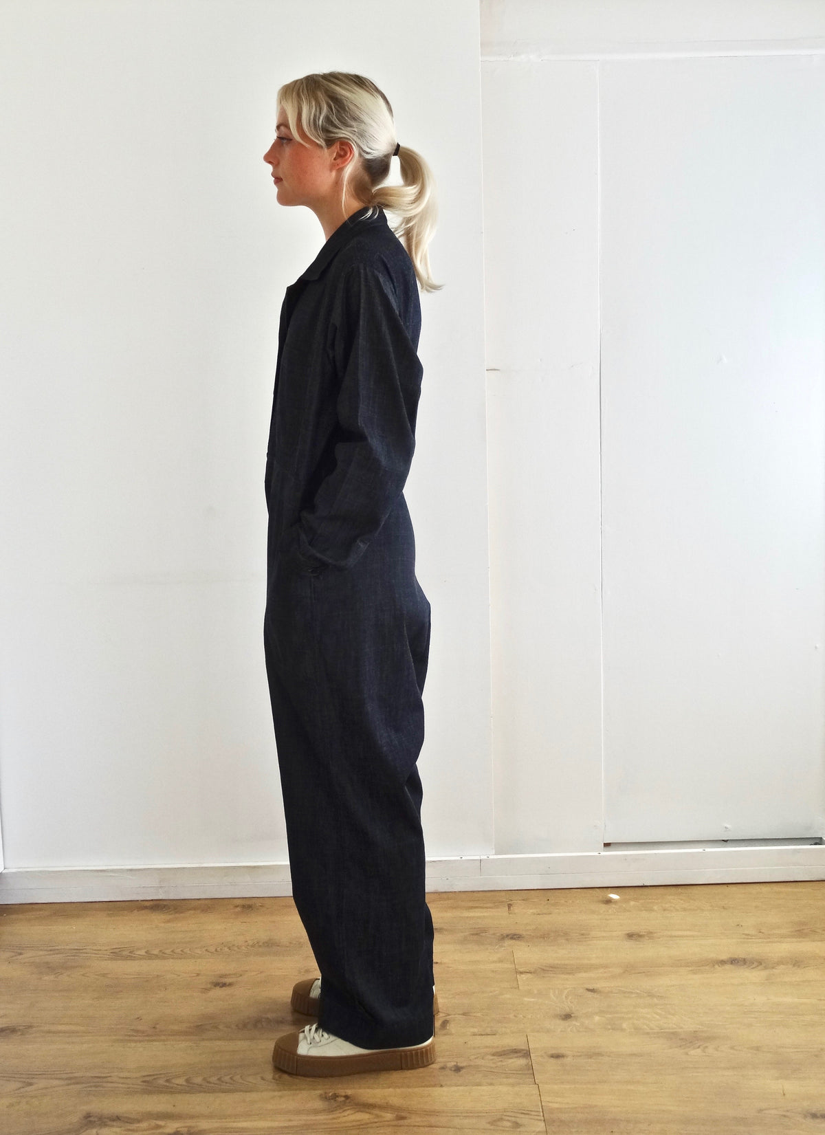 pajotten UK sustainable womenswear soft denim overalls
