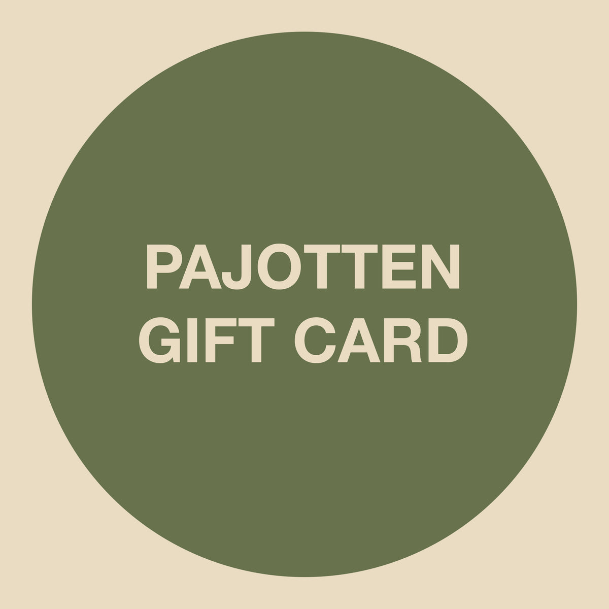an image of a Pajotten gift card