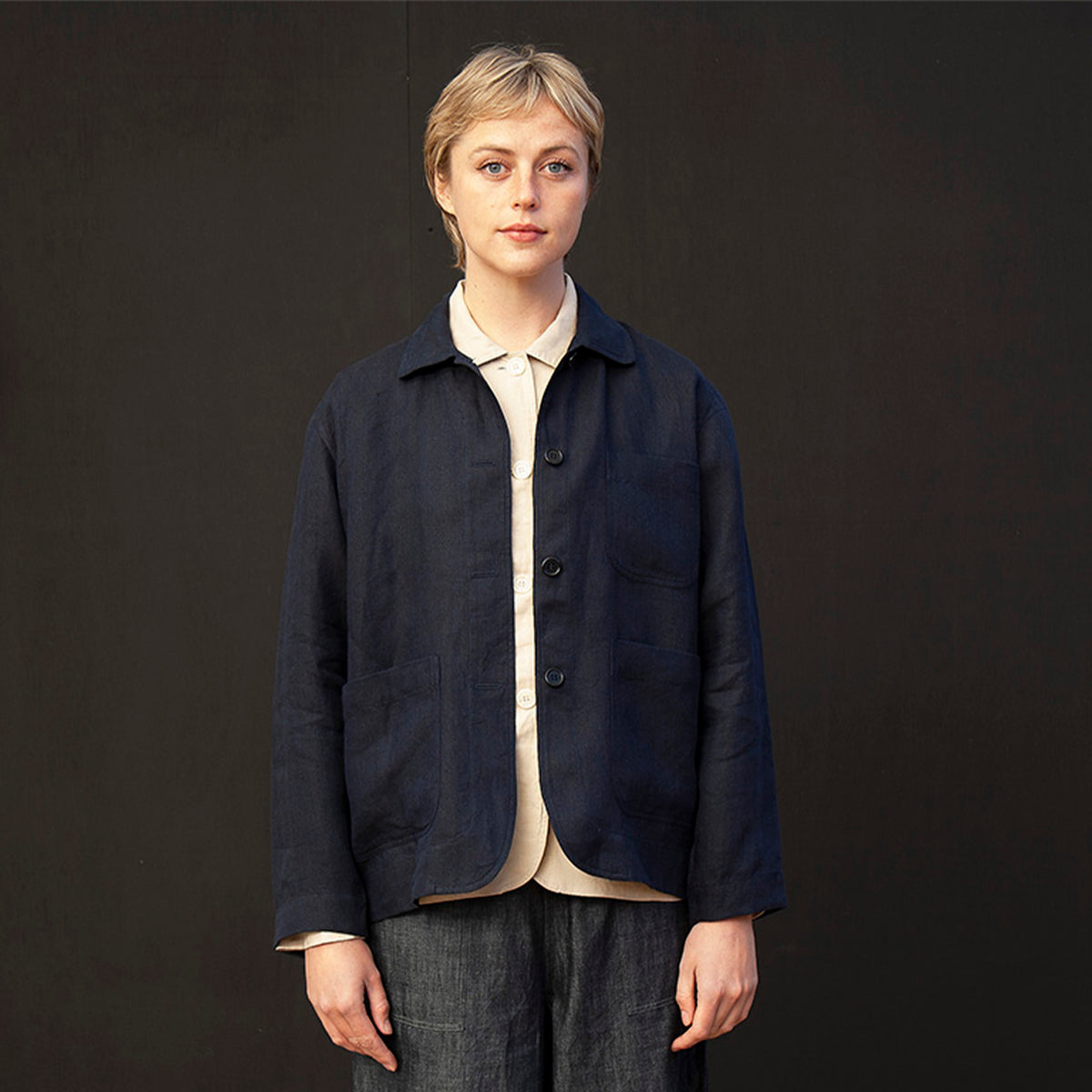 Simple chore jacket Navy
