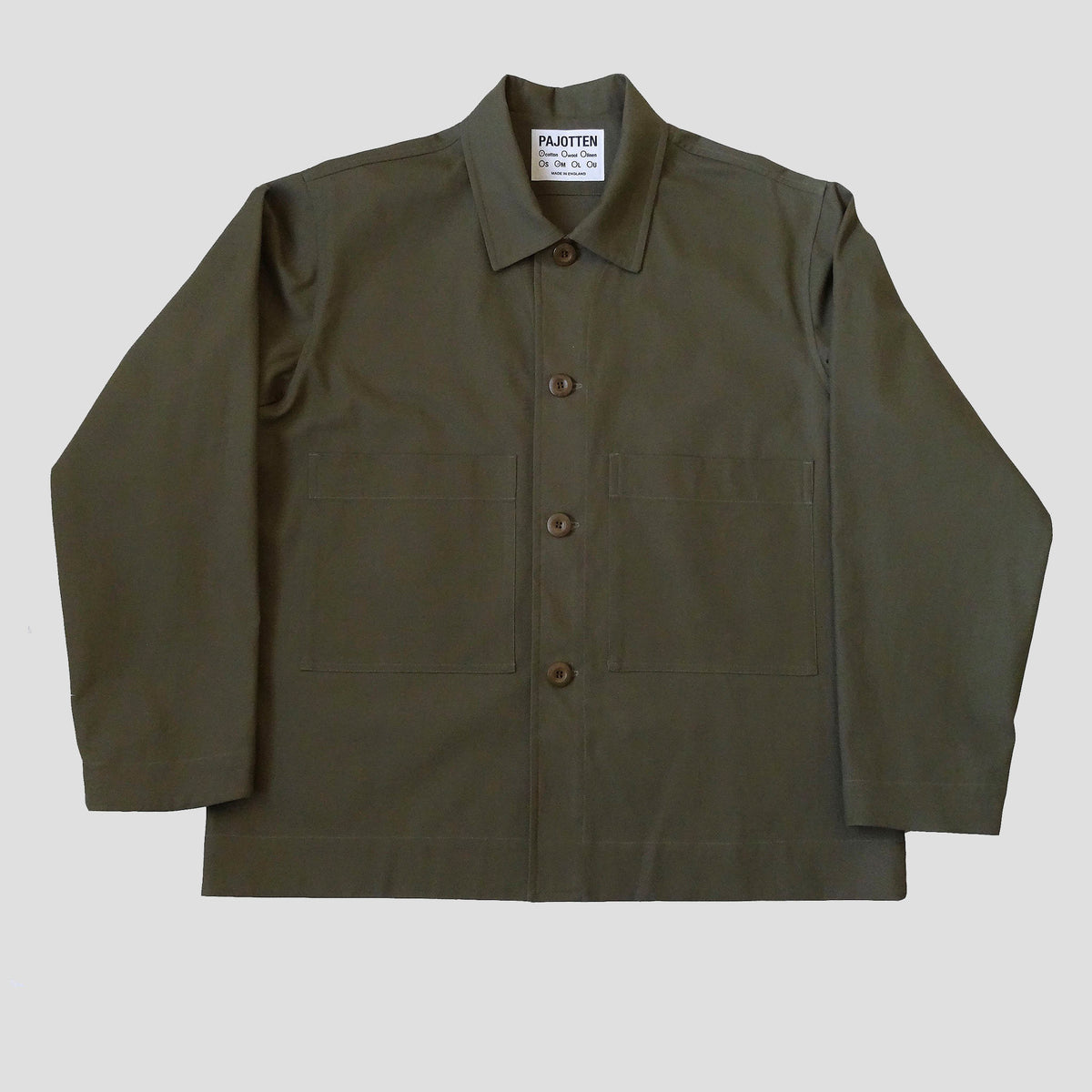 menswear workers jacket insane green  brushed cotton canvas