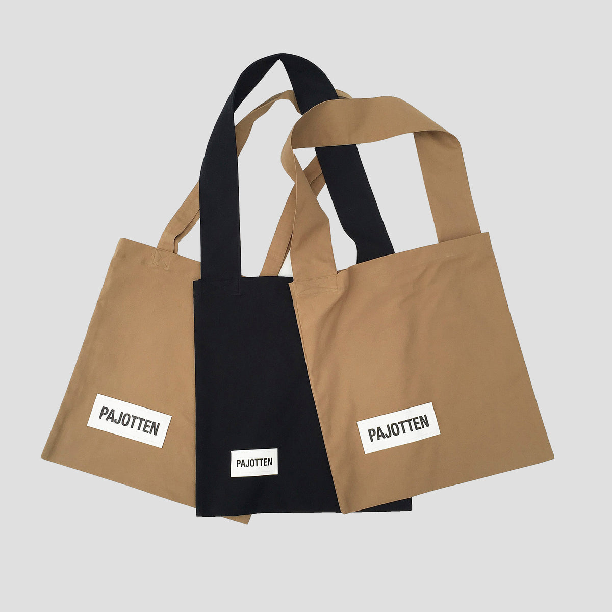 a selection tin of Pajotten tote bags