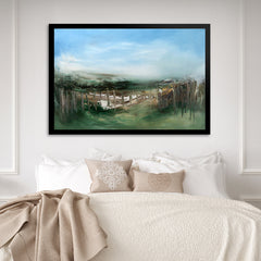 Contemporary and modern landscape abstract nature inspired hospitality decor