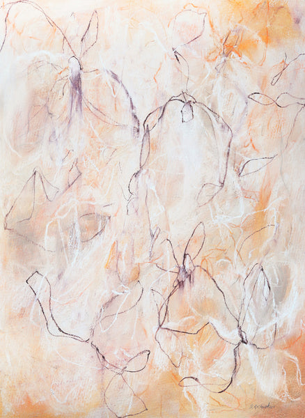 Modern nature inpired mixed media artwork by artist Sara Richardson