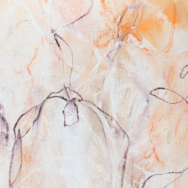 Wild Flowers No10 abstract nature drawing by artist Sara Richardson