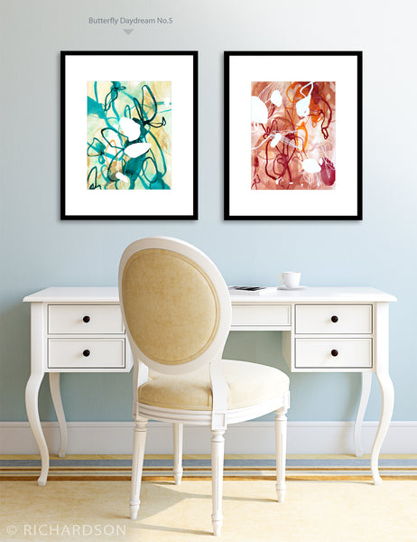 Contemporary abstract watercolor paintings by artist Sara Richardson