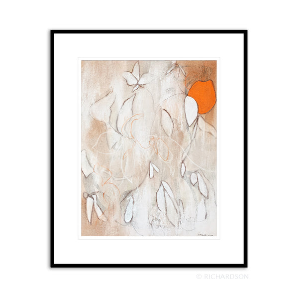 Abstract foliage organic drawing by contemporary artist Sara Richardson