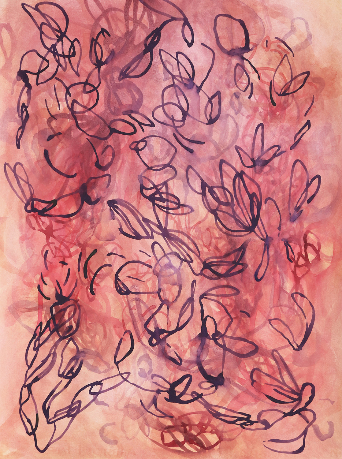 Abstract watercolor by contemporary artist Sara Richardson
