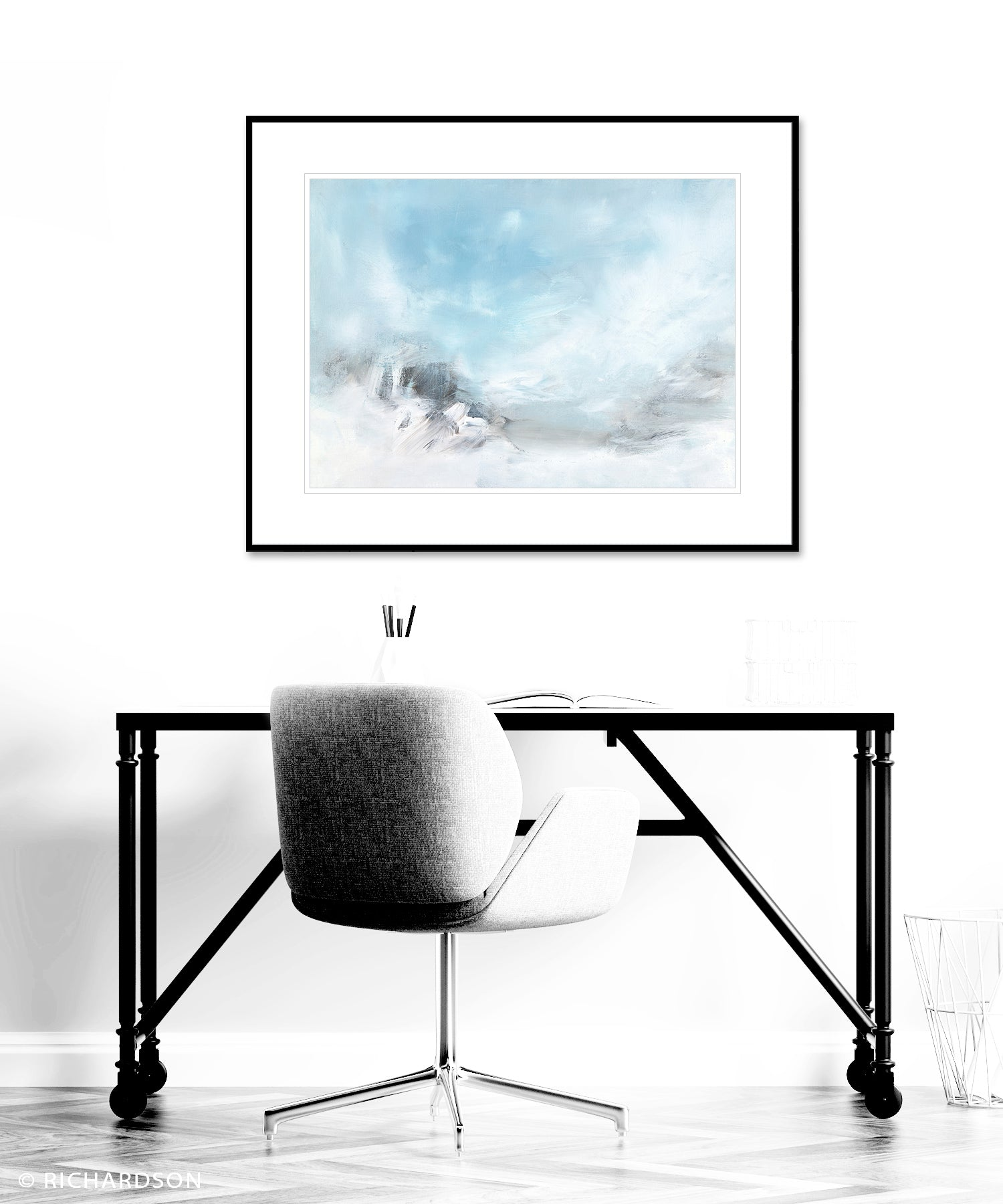 Contemporary abstract landscape prints by artist Sara Richardson