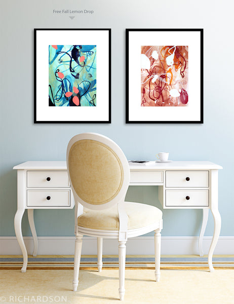 Contemporary art decor by fine artist Sara Richardson