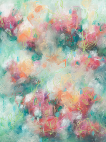 Contemporary floral artwork by modern artist Sara Richardson