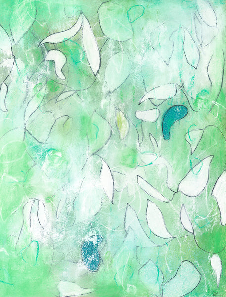 Contemporary abstract nature mixed media artwork by artist Sara Richardson