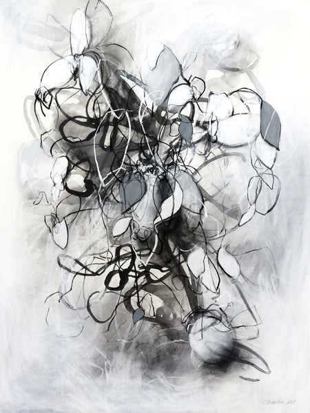 Expressive contemporary drawing by artist Sara Richardson