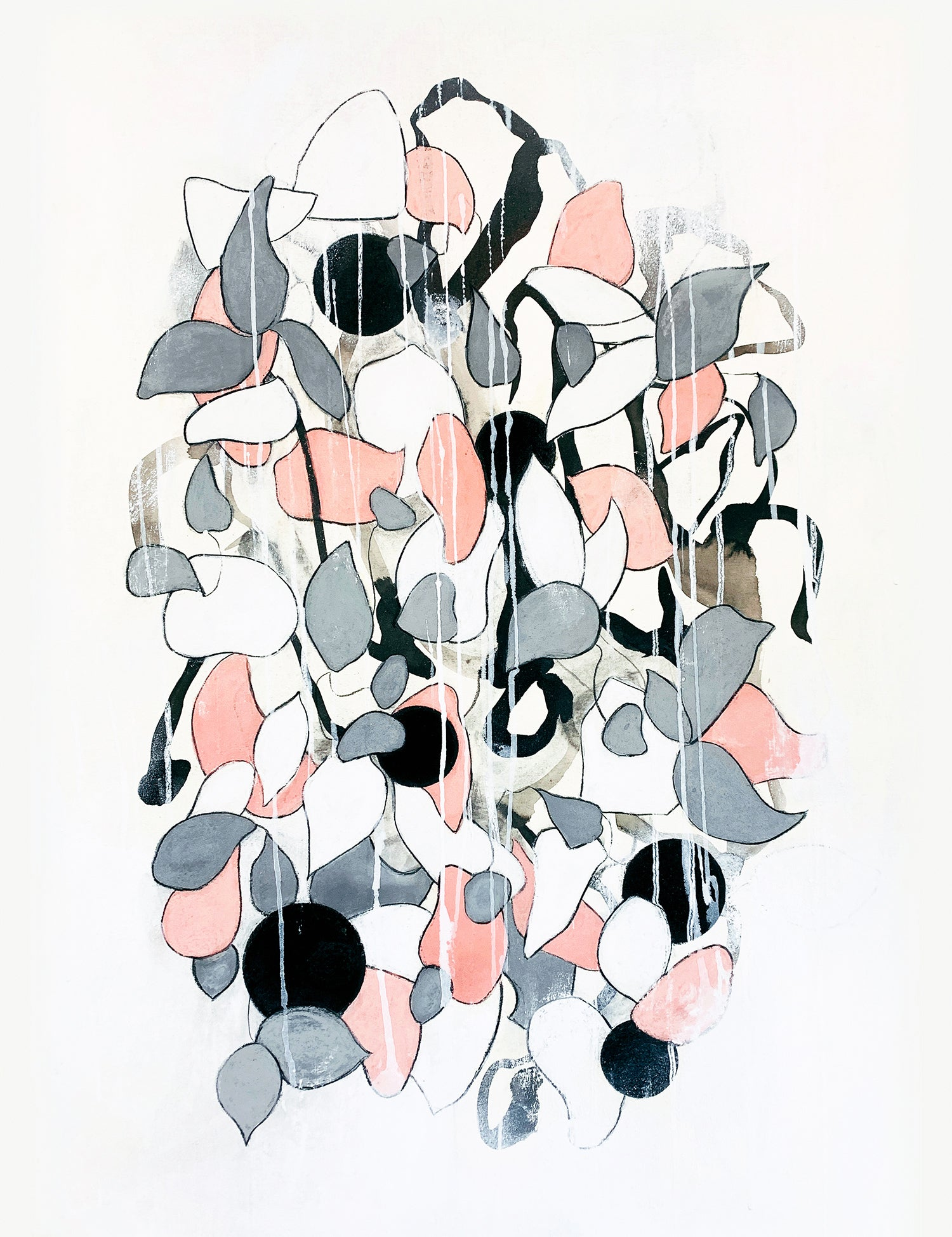Modern geometric nature inspired contemporary floral plants by artist Sara Richardson