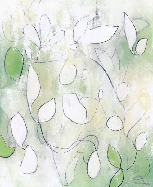 Contemporary geometric abstract nature decor by artist Sara Richardson