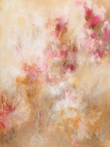 Contemporary abstract floral artwork by fine artist Sara Richardson