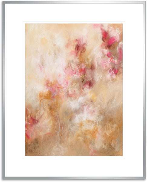 Contemporary abstract floral artwork modern decor by fine artist Sara Richardson