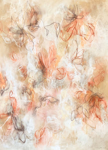 Modern contemporary nature and floral art by artist Sara Richardson