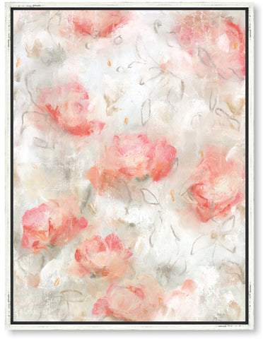 Contemporary floral chic framed artwork decor by artist Sara Richardson