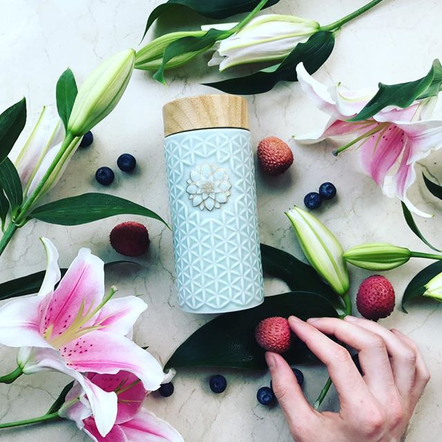 New Arrival...The Flower of Life Travel Mug!