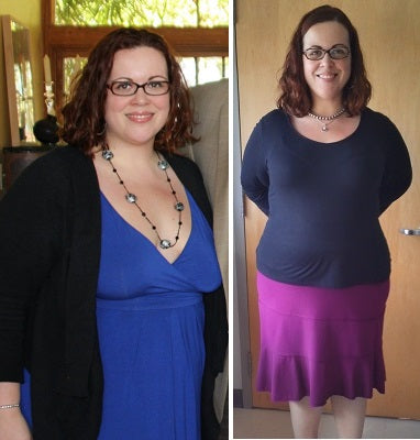 Amanda lost 30 pounds and 6.5 inches off her waist!