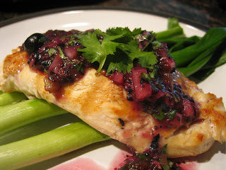 Lime-Grilled Chicken with Blueberry Salsa