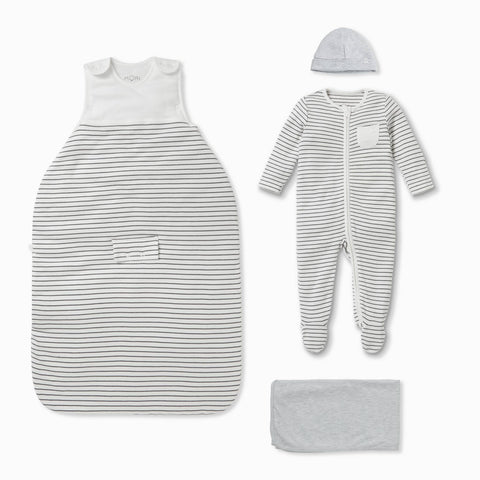 Clever Sleep Set - Grey Stripe