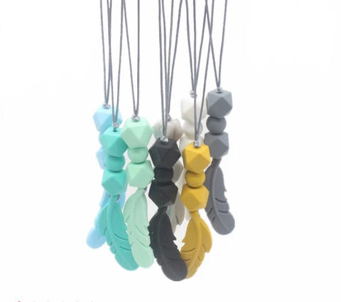 Teething Feather Necklace