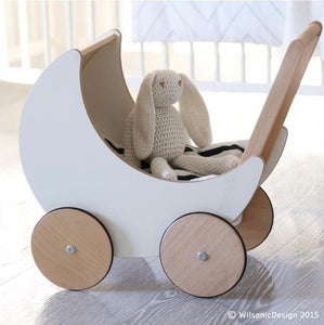 Ooh Noo Wooden Toy Pram