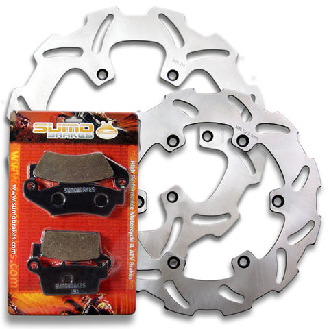Suzuki Front + Rear High Quality Brake Disc Rotor + Pads RM125 RM250 [1996-1998]