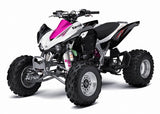 White Shock Covers Kawasaki KFX 250 400 KFX250 KFX400 Girls Rule (Set of 3)