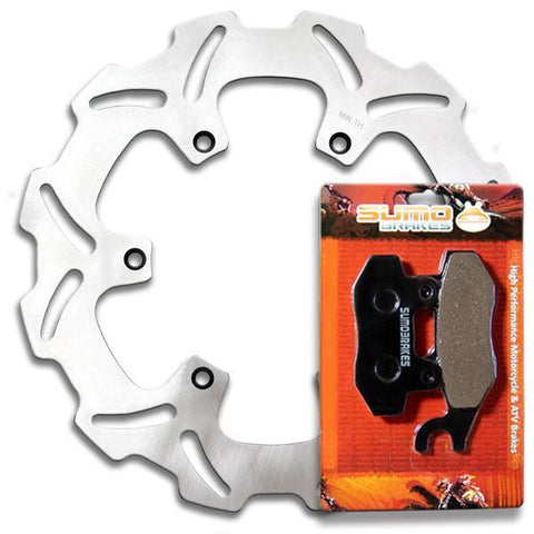 Yamaha Front Brake Disc Rotor+Pads YZ 125 YZ 250 [1992-1997] WR 250 [1991-1997]