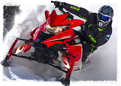 Red Flame Shock Protector Covers Yamaha Snowmobile (all models) (Set 2) New