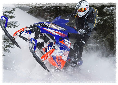 Blue Flame Shock Protector Covers Yamaha Snowmobile (all models) (Set 2) New
