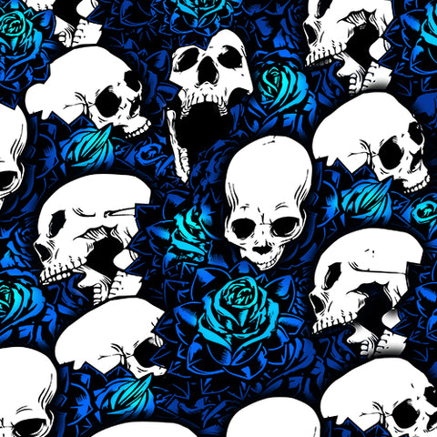 Set 4 NEW Blue Skull Shock Covers Kawasaki MULE 600 610 3000 3010 TERYX 750