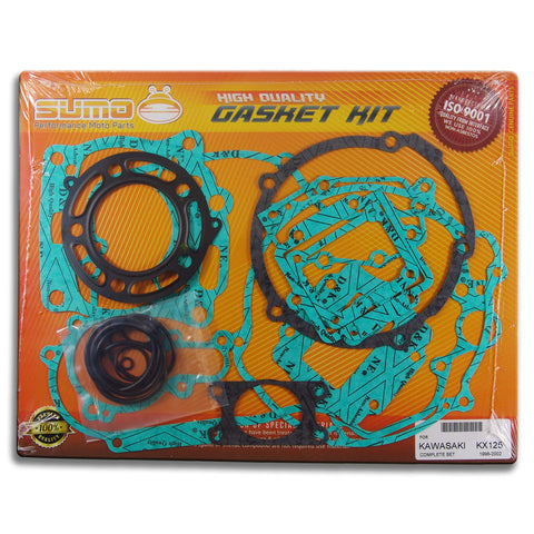 Kawasaki High Quality Complete Engine Gasket Kit Set KX 125 [1998-2002] (20 Pcs)