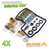 4 X Honda Carburetor Rebuild Carb Repair Kit Set VF700C VF700F VF750F V45 VF700S