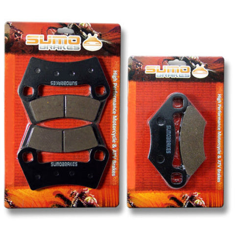 Polaris FR+R Brake Disc Pads 450 425 S Outlaw MXR IRS 2008 2009 2010 2011 ATV