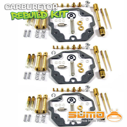 3 X Kawasaki Carburetor Rebuild Carb Repair Kit KZ1300 Z1300 Voyager (1979-1982)