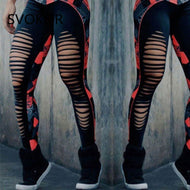 Distressed Style Athletic Gym Yoga Pants