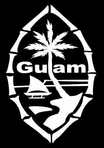 Guam Seal Bamboo (4 x 6) Decal
