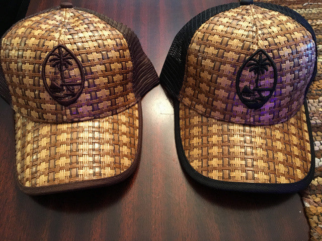 Guam Seal Wicker Hat