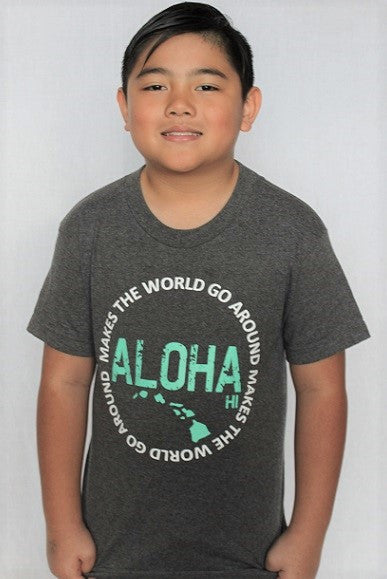 Aloha Makes the World Go Round Youth Shirt