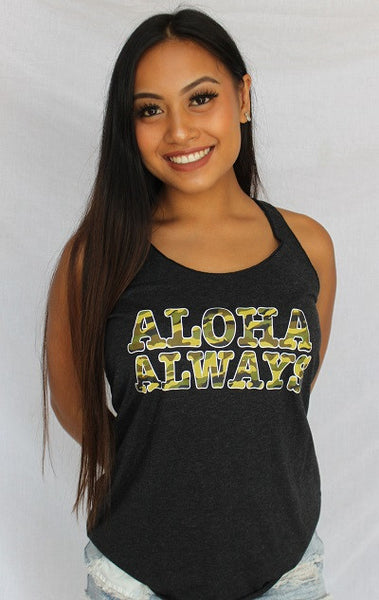 Aloha Always Camo Ladies Tank