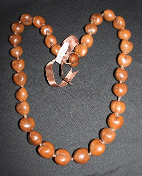 Brown Kukui Lei