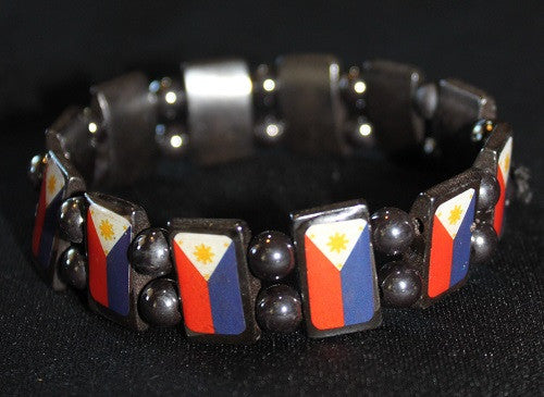 Filipino Flag Magnet Bracelet